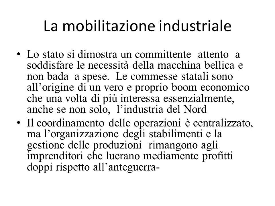 La mobilitazione industriale