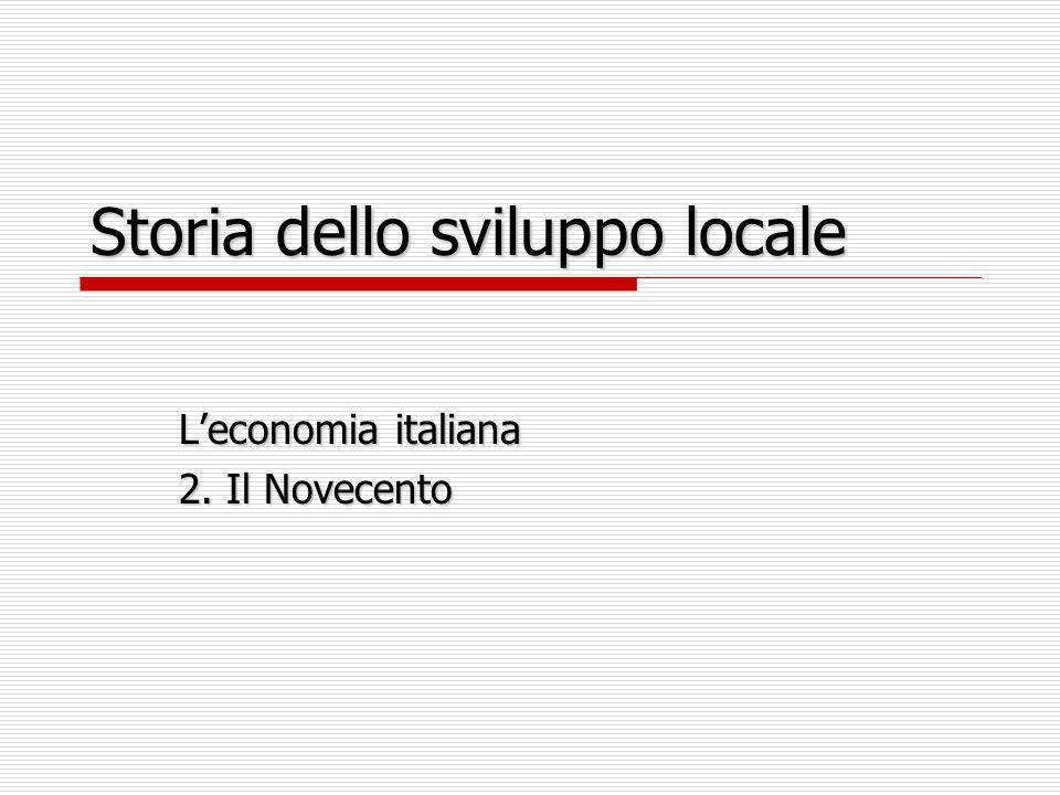 Storia dello sviluppo locale