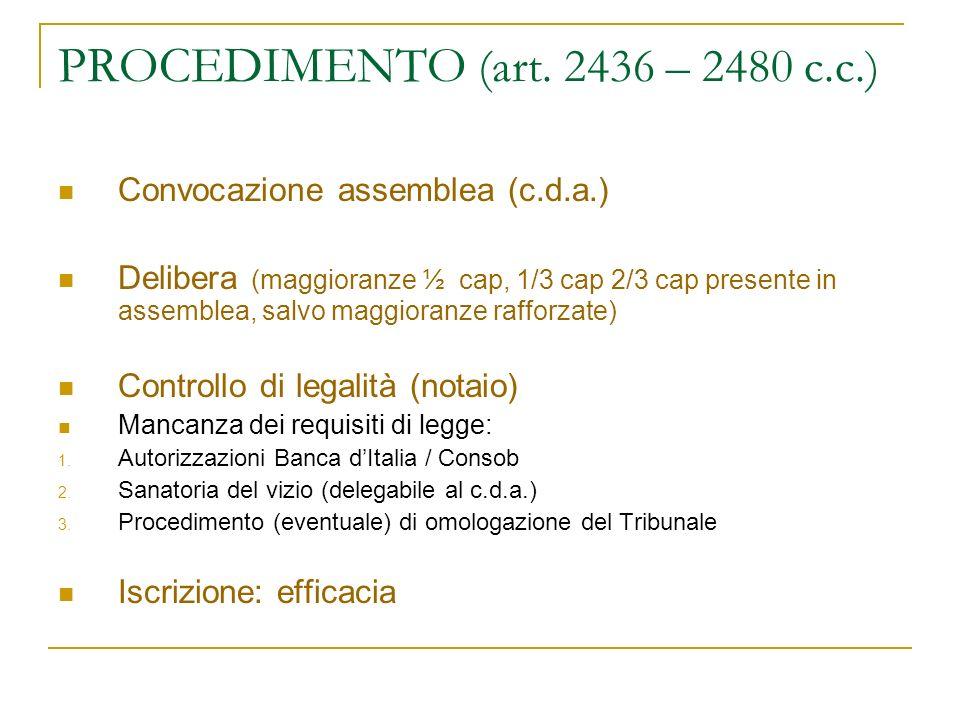 PROCEDIMENTO (art. 2436 – 2480 c.c.)