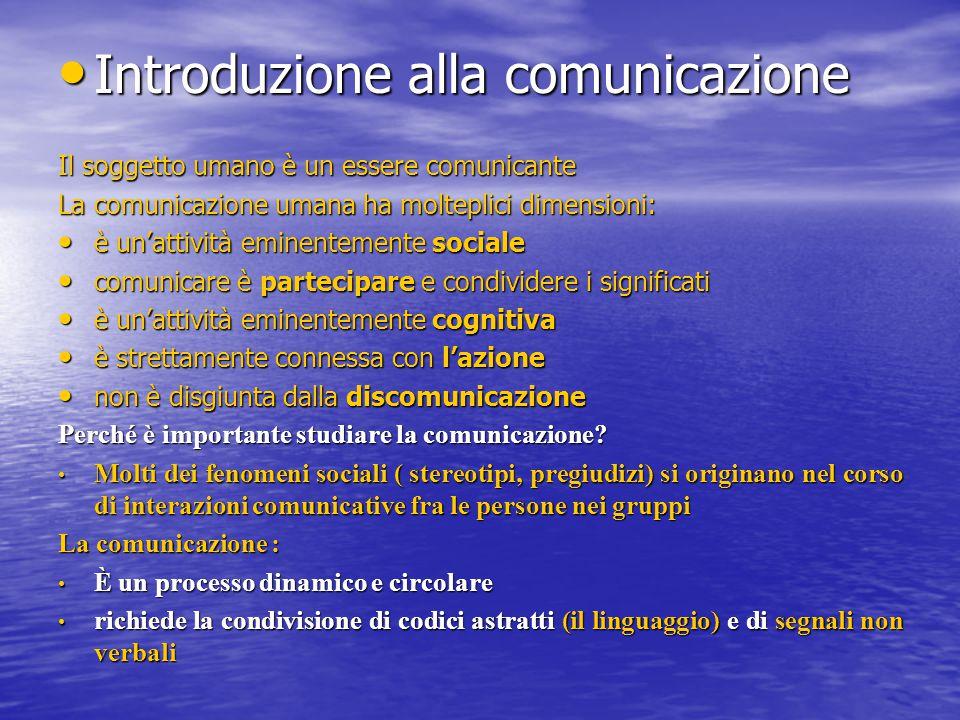 Introduzione alla comunicazione