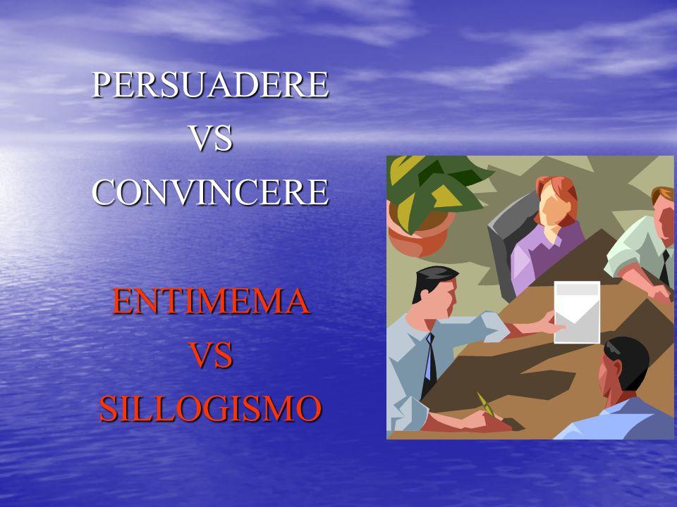 PERSUADERE VS CONVINCERE ENTIMEMA SILLOGISMO