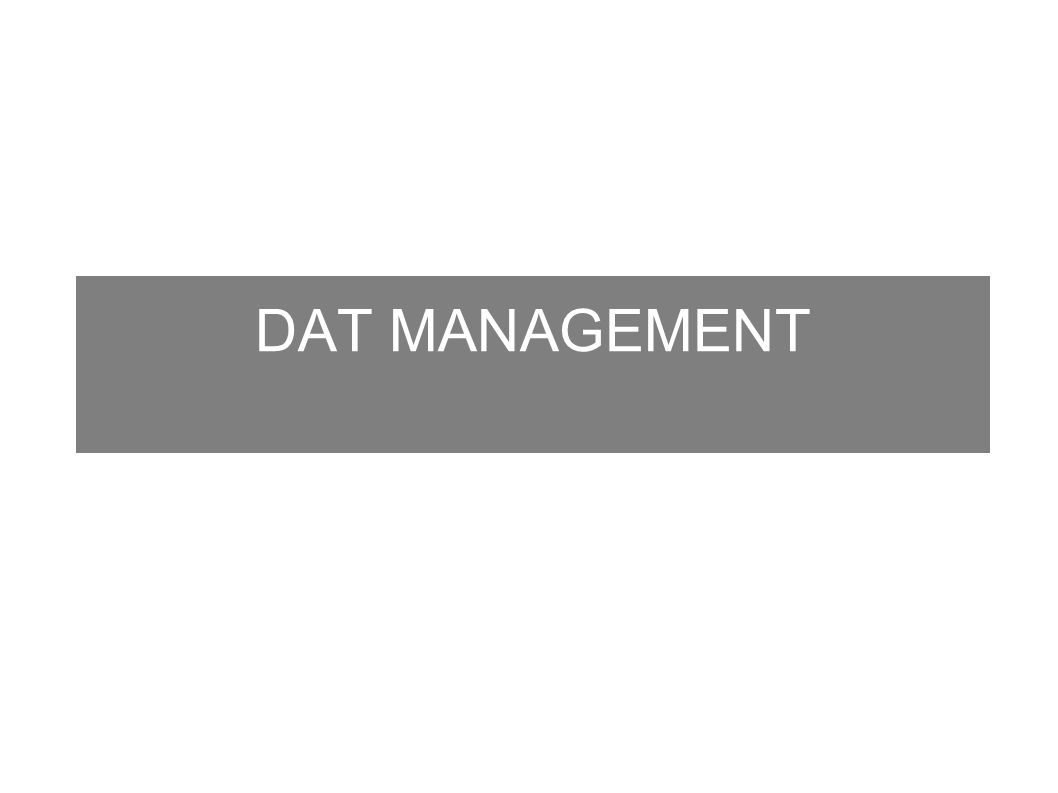 DAT MANAGEMENT