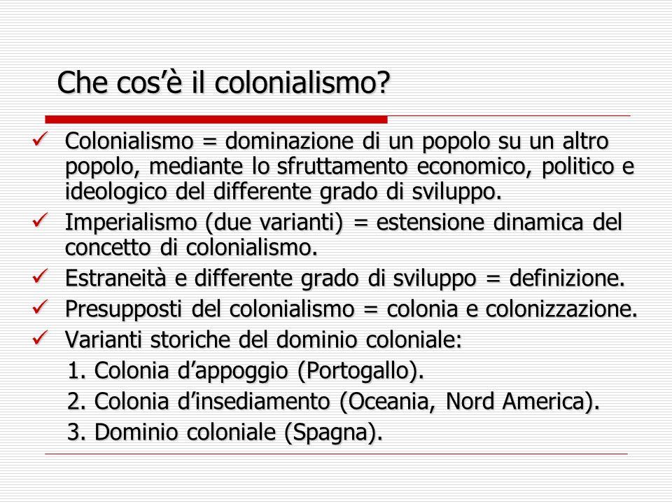 Che cos'è il colonialismo
