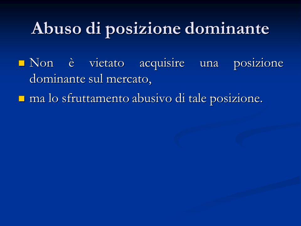 Abuso di posizione dominante