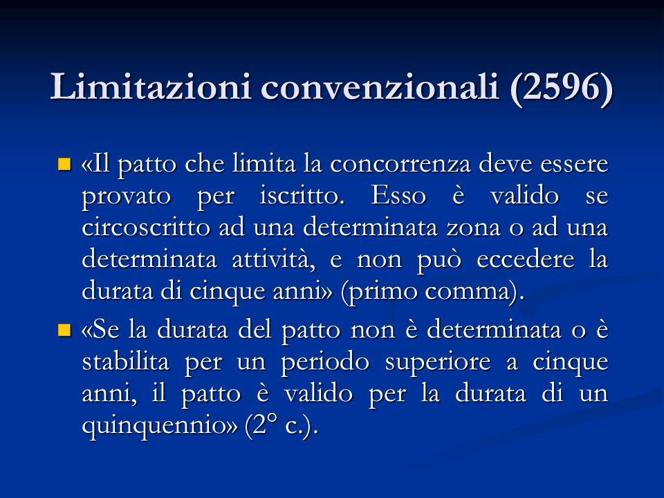 Limitazioni convenzionali (2596)