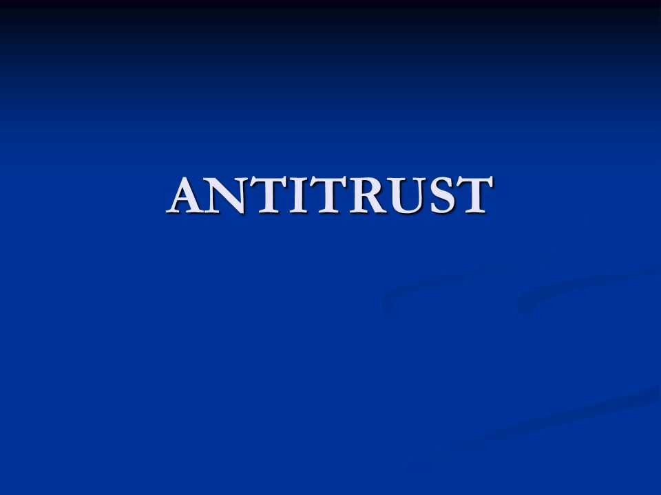 ANTITRUST 9