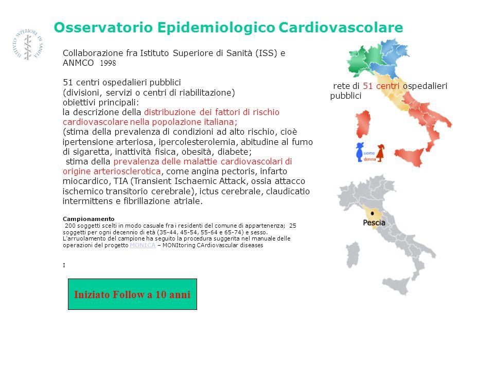 Iniziato Follow a 10 anni Osservatorio Epidemiologico Cardiovascolare