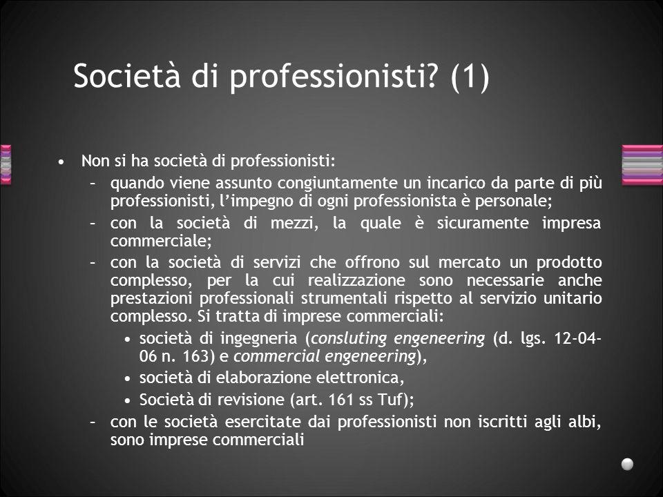 Società di professionisti (1)