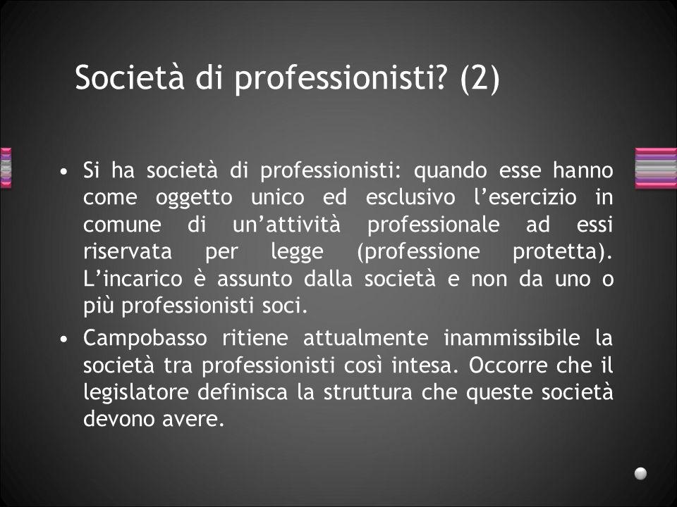 Società di professionisti (2)