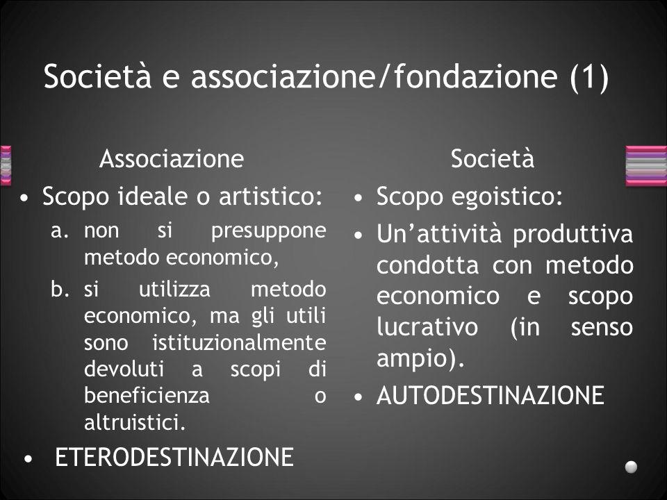 Società e associazione/fondazione (1)