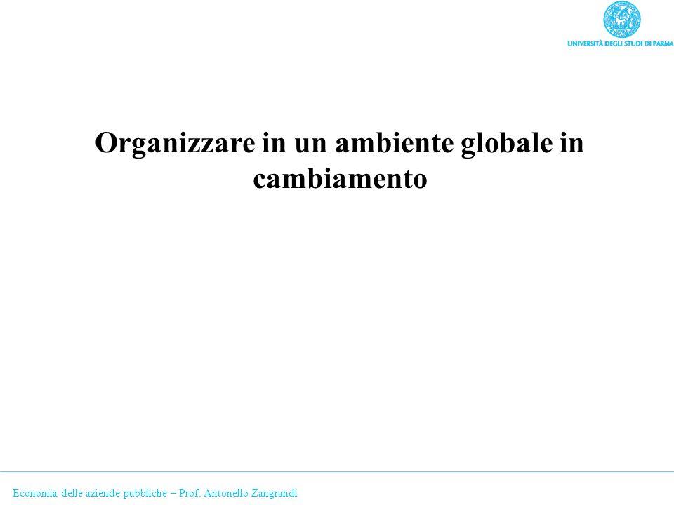Organizzare in un ambiente globale in cambiamento