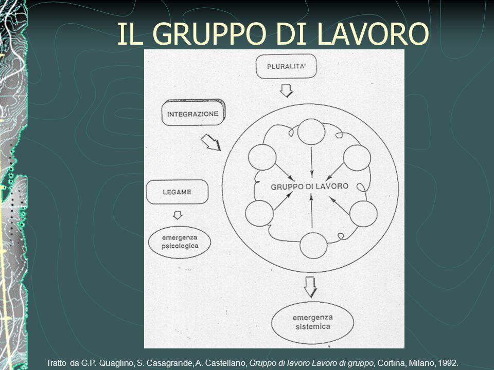 IL GRUPPO DI LAVORO Tratto da G.P. Quaglino, S. Casagrande, A.