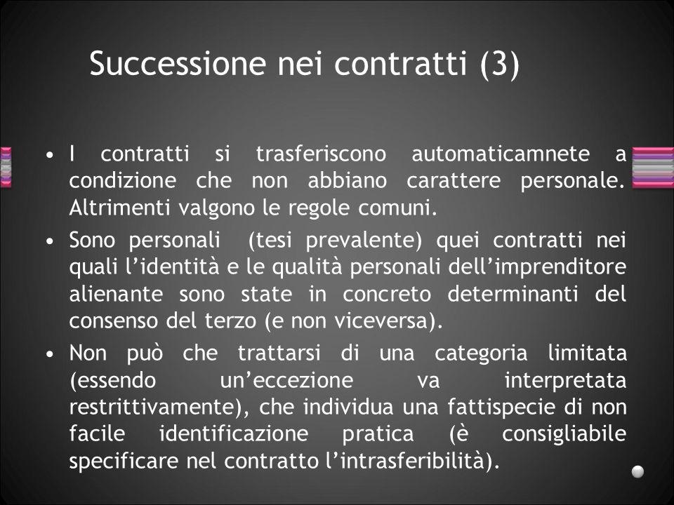 Successione nei contratti (3)