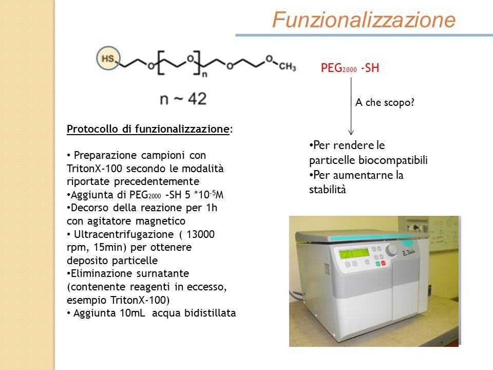 Funzionalizzazione PEG2000 -SH