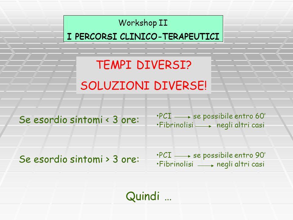 I PERCORSI CLINICO-TERAPEUTICI