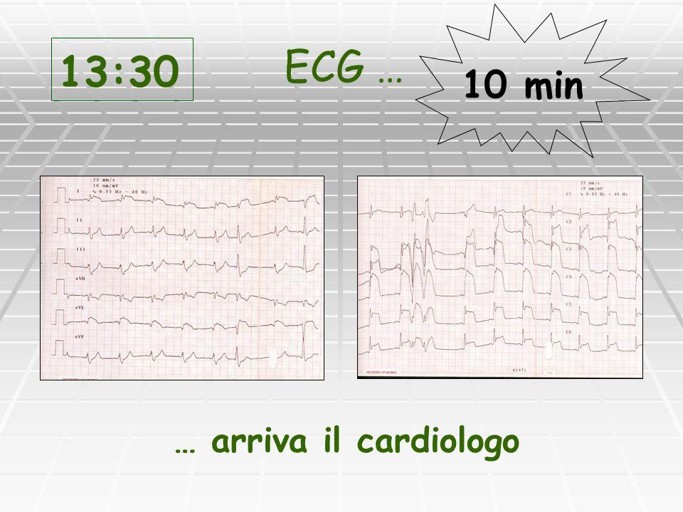 13:30 ECG … 10 min … arriva il cardiologo