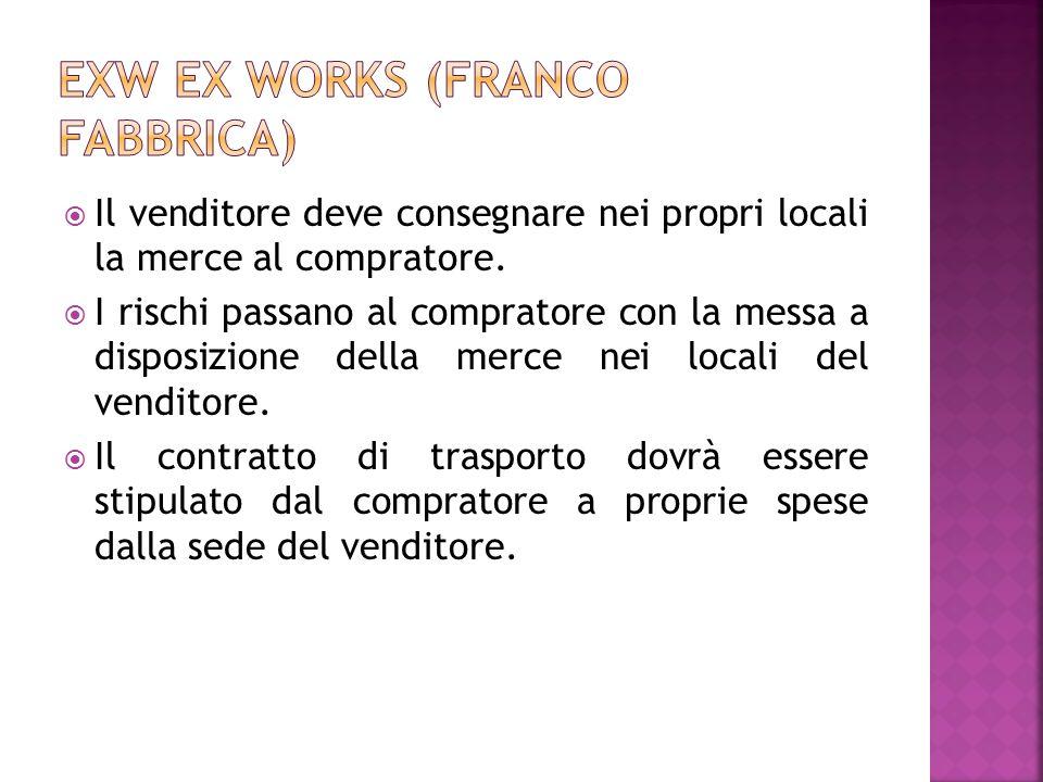EXW Ex works (franco fabbrica)