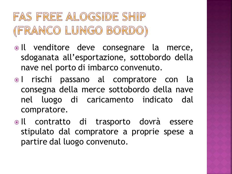 FAS Free alogside ship (Franco lungo bordo)