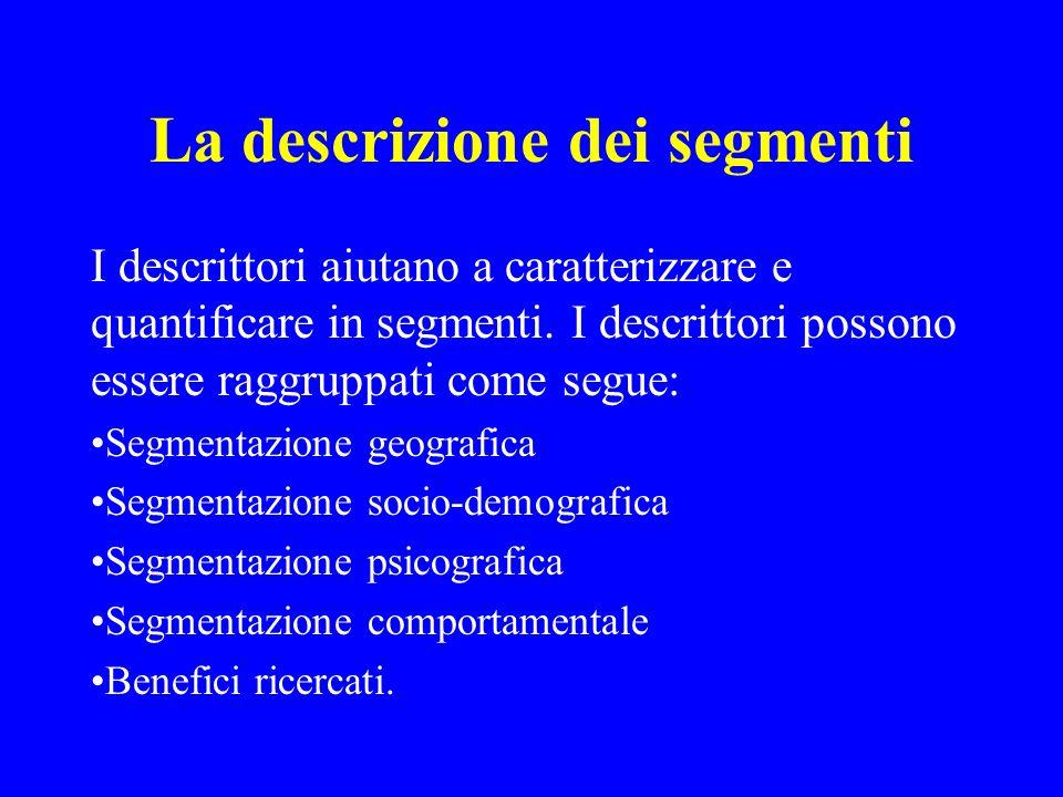 La descrizione dei segmenti