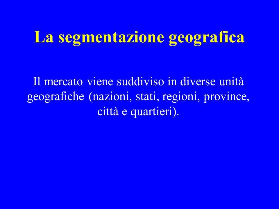 La segmentazione geografica