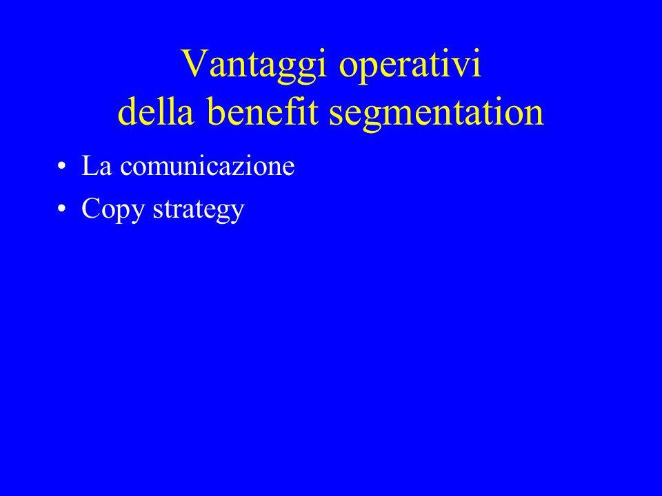 Vantaggi operativi della benefit segmentation