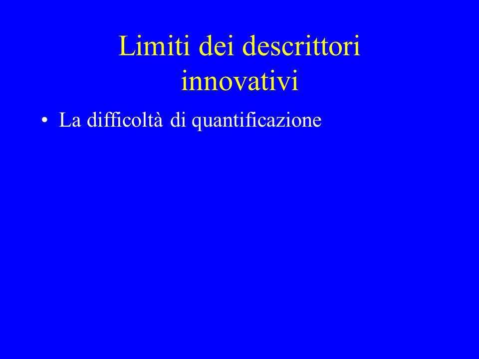 Limiti dei descrittori innovativi