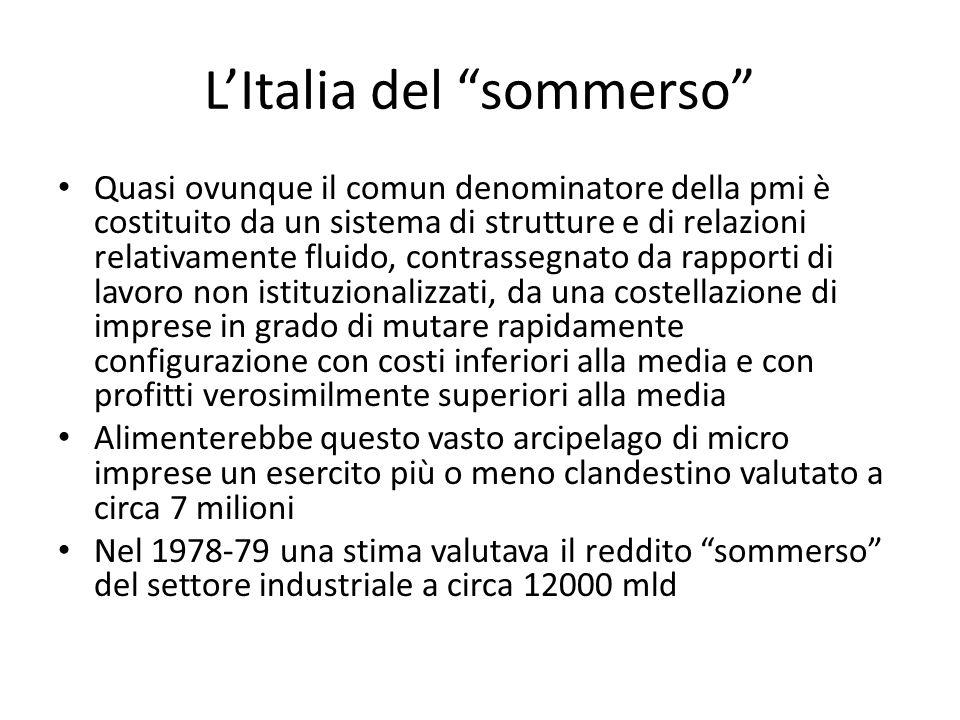 L'Italia del sommerso