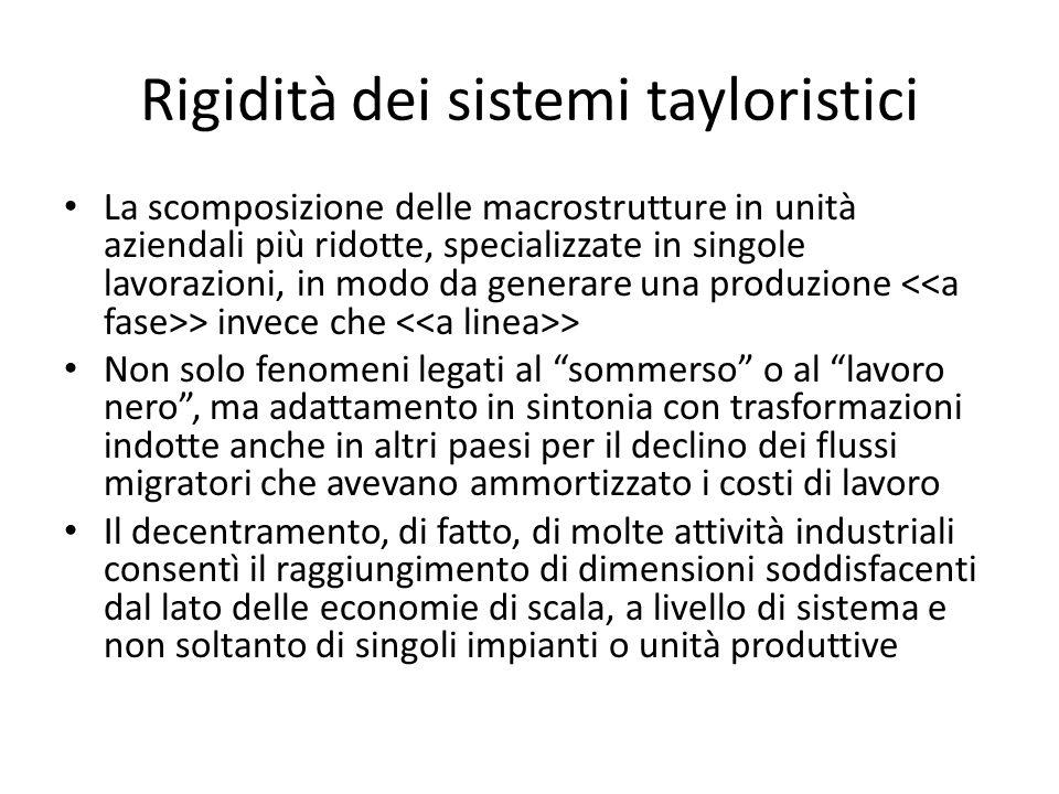Rigidità dei sistemi tayloristici