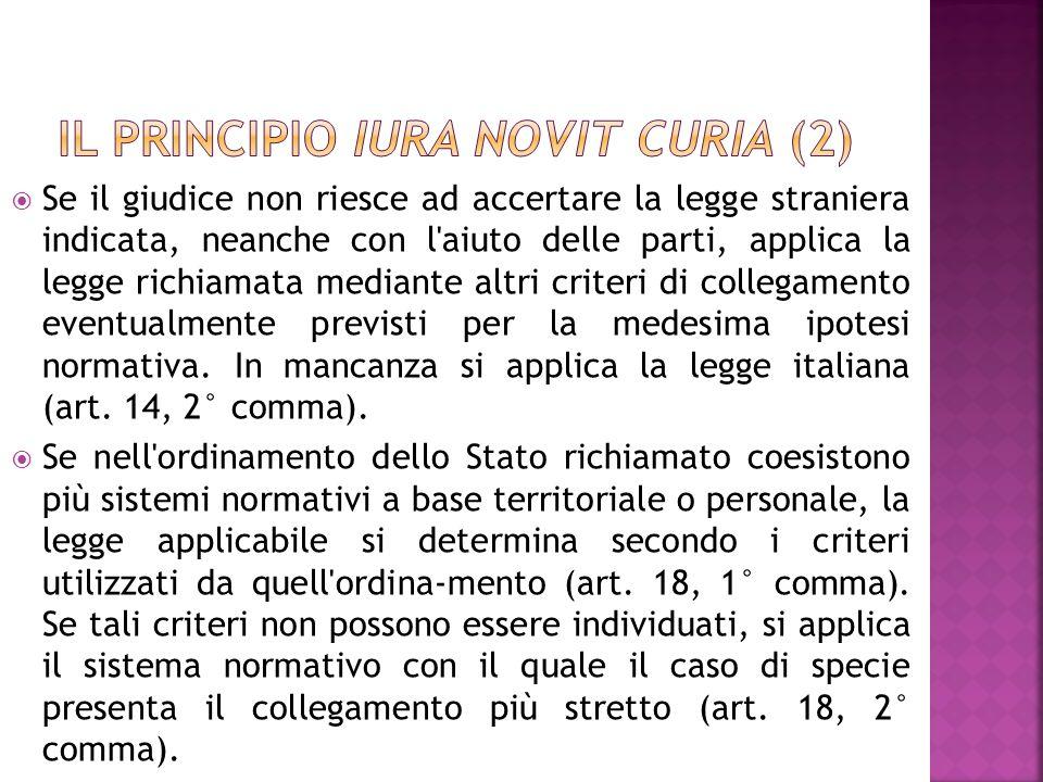 Il principio iura novit curia (2)
