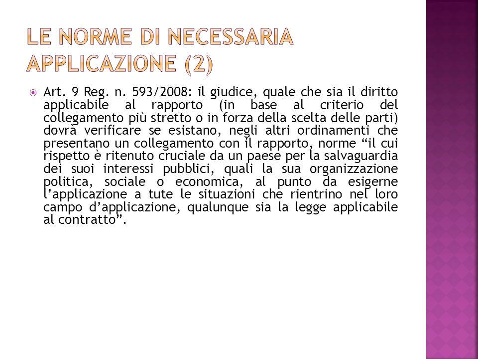 Le norme di necessaria applicazione (2)