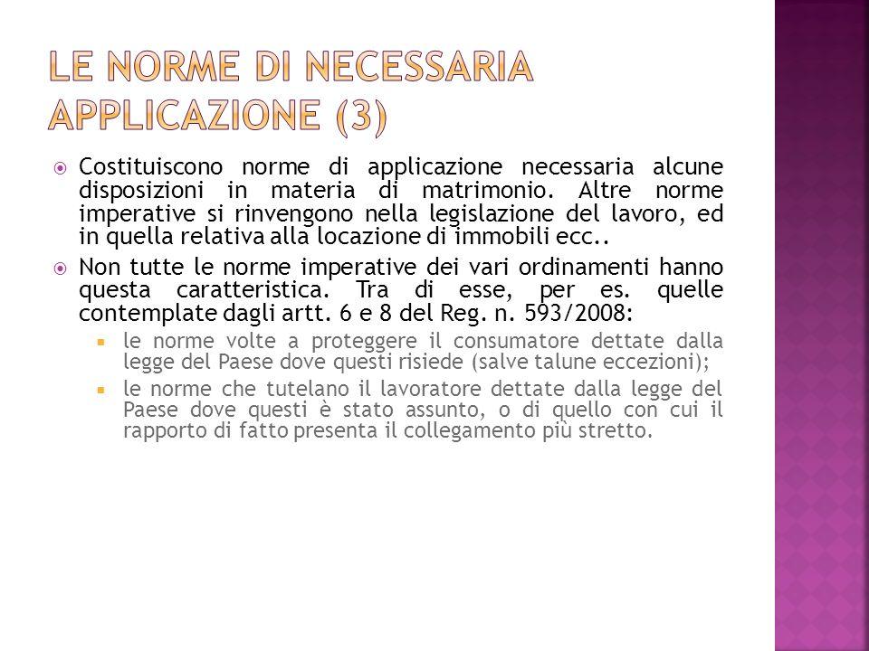 Le norme di necessaria applicazione (3)