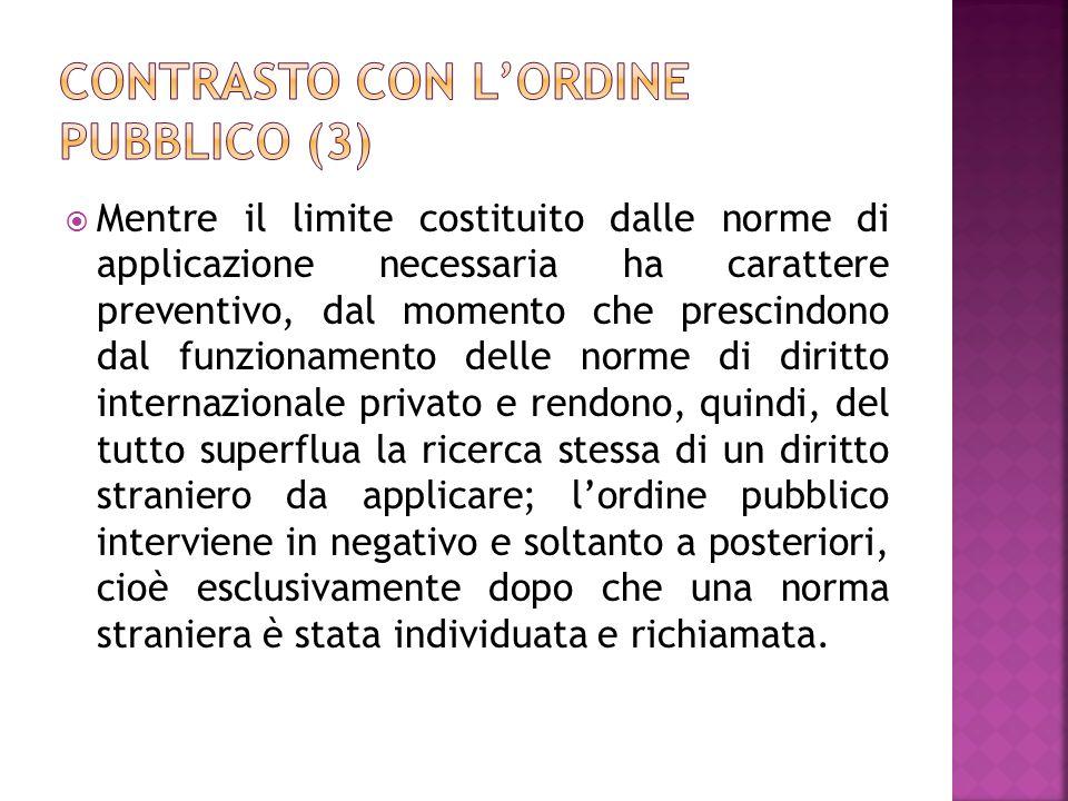 Contrasto con l'ordine pubblico (3)