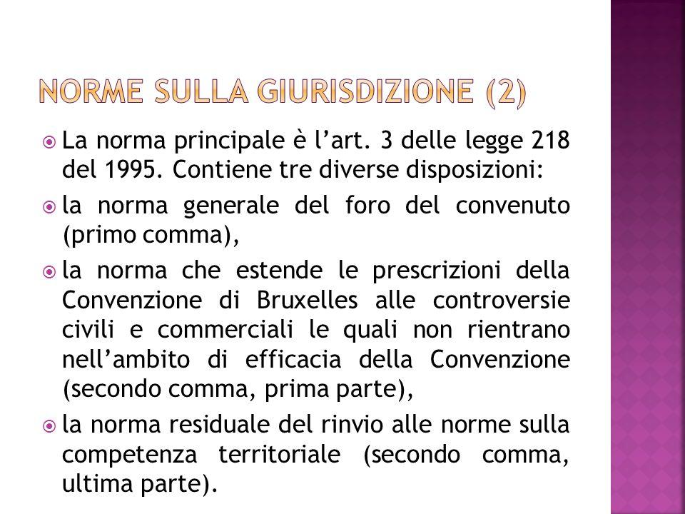 Norme sulla giurisdizione (2)