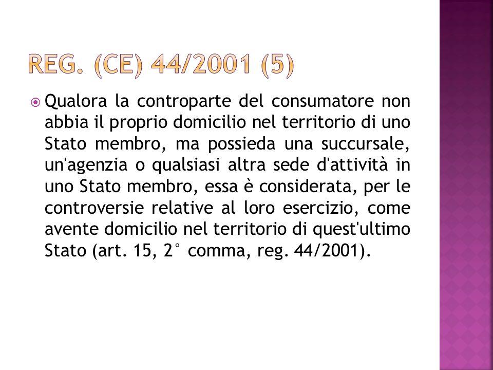 Reg. (CE) 44/2001 (5)