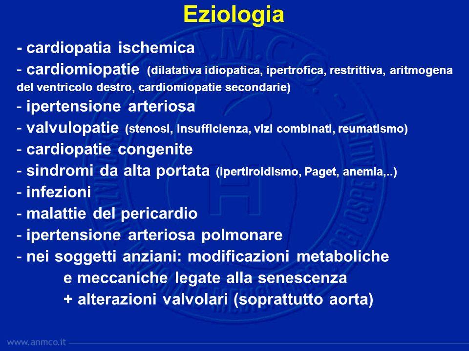 Eziologia - cardiopatia ischemica