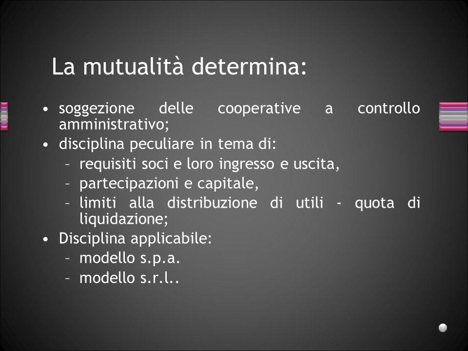 La mutualità determina: