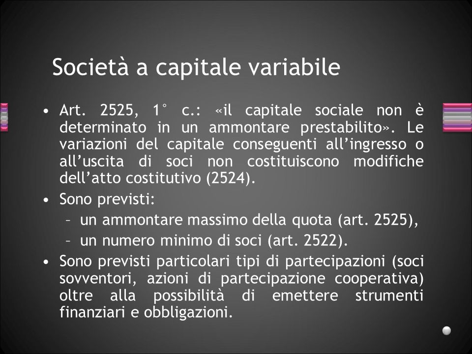 Società a capitale variabile