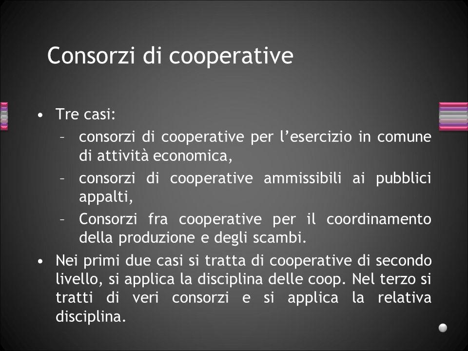 Consorzi di cooperative
