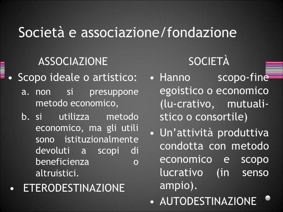 Società e associazione/fondazione