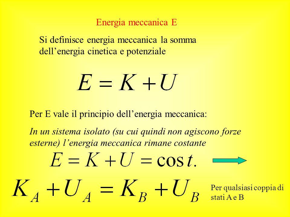 Per E vale il principio dell'energia meccanica: