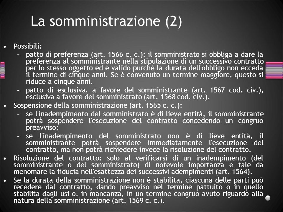 La somministrazione (2)