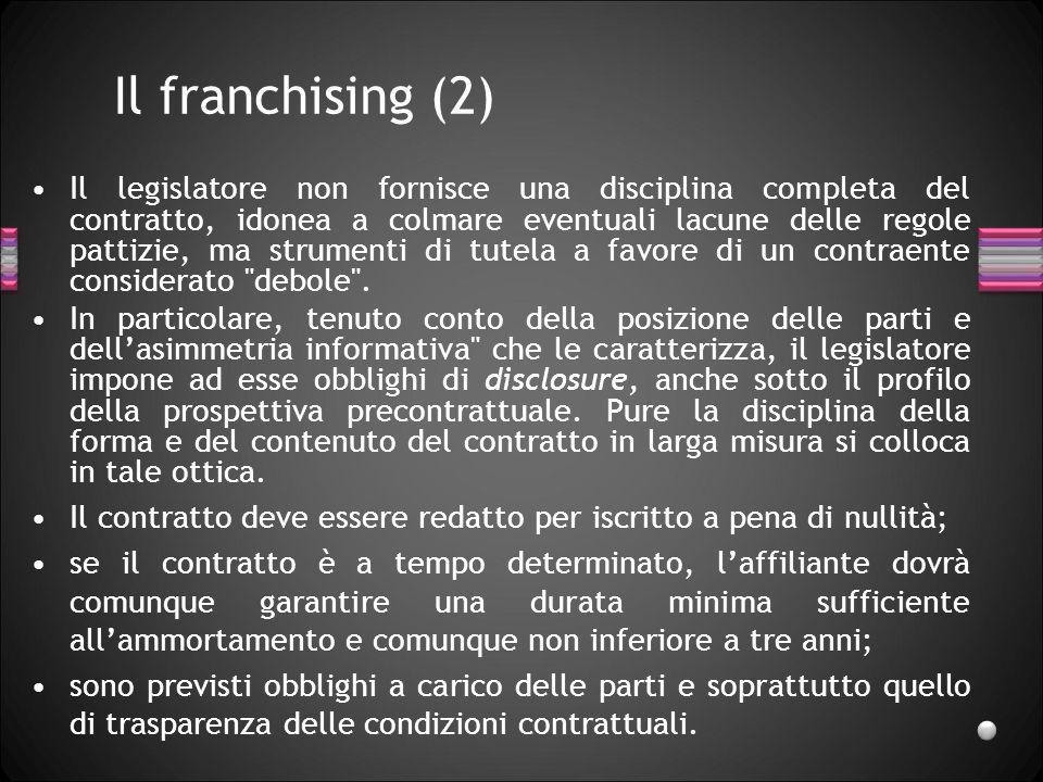 Il franchising (2)