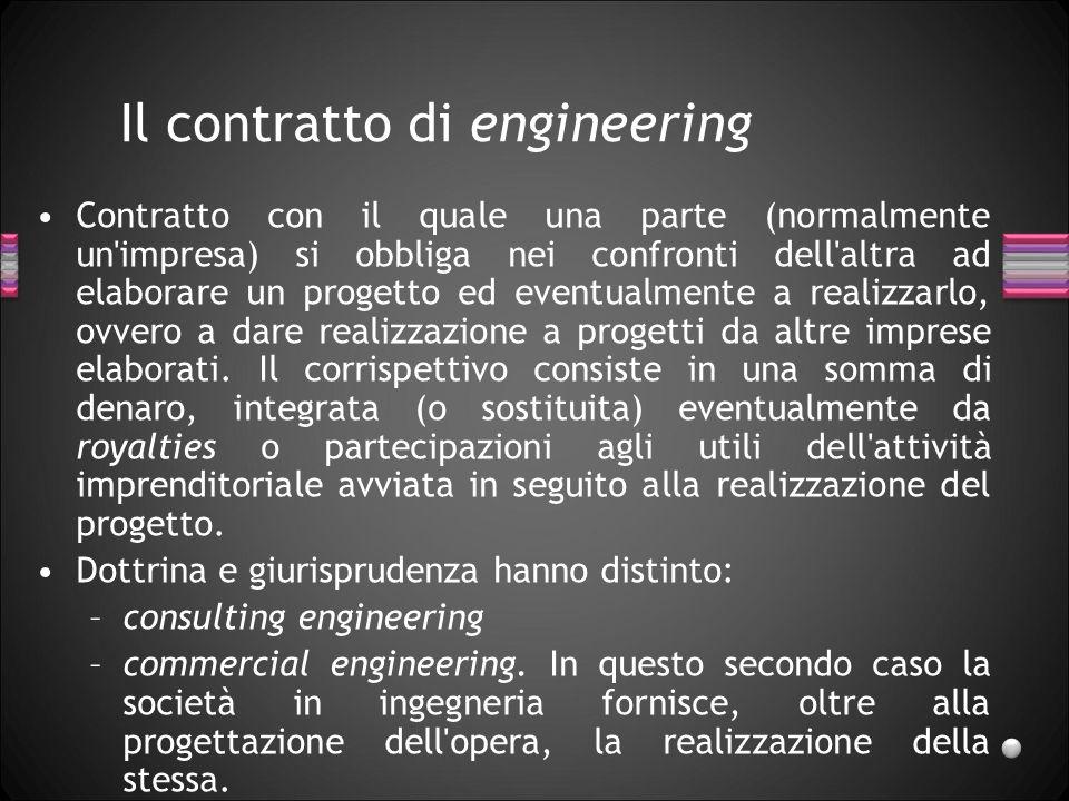 Il contratto di engineering