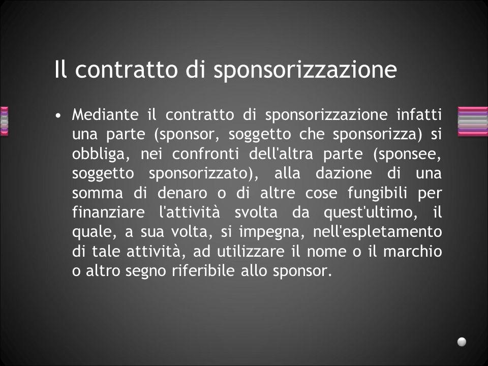 Il contratto di sponsorizzazione