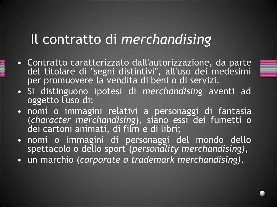 Il contratto di merchandising