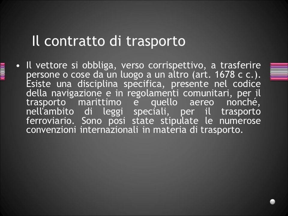 Il contratto di trasporto