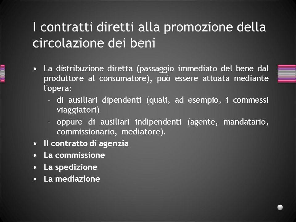 I contratti diretti alla promozione della circolazione dei beni