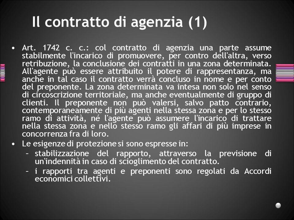 Il contratto di agenzia (1)