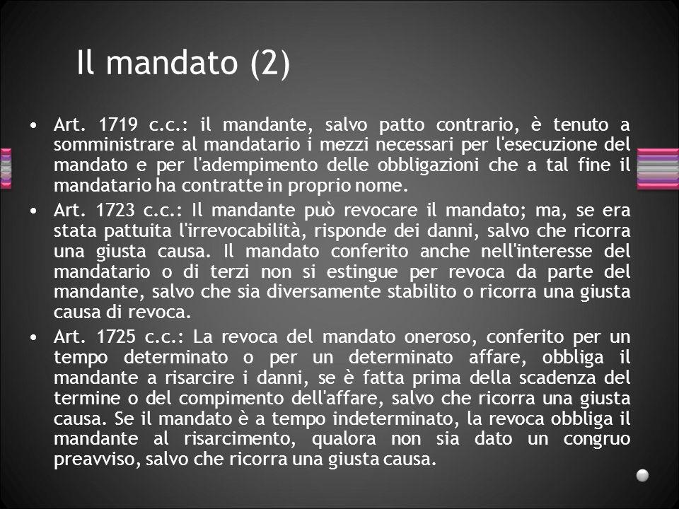 Il mandato (2)