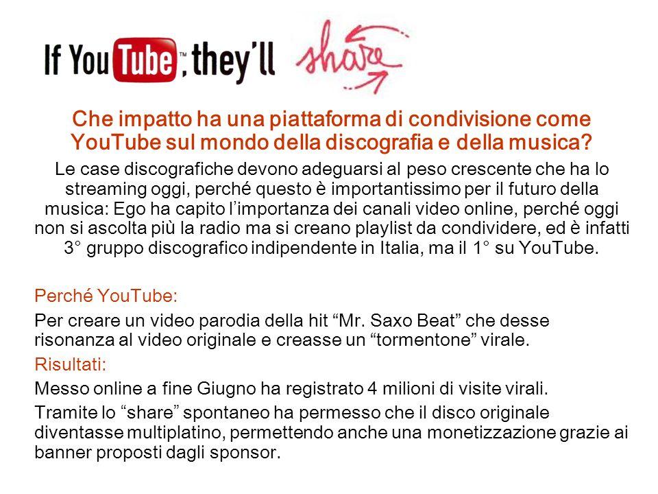 Che impatto ha una piattaforma di condivisione come YouTube sul mondo della discografia e della musica